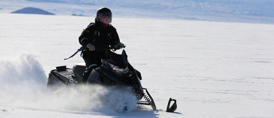 Full day snowmobile adventure