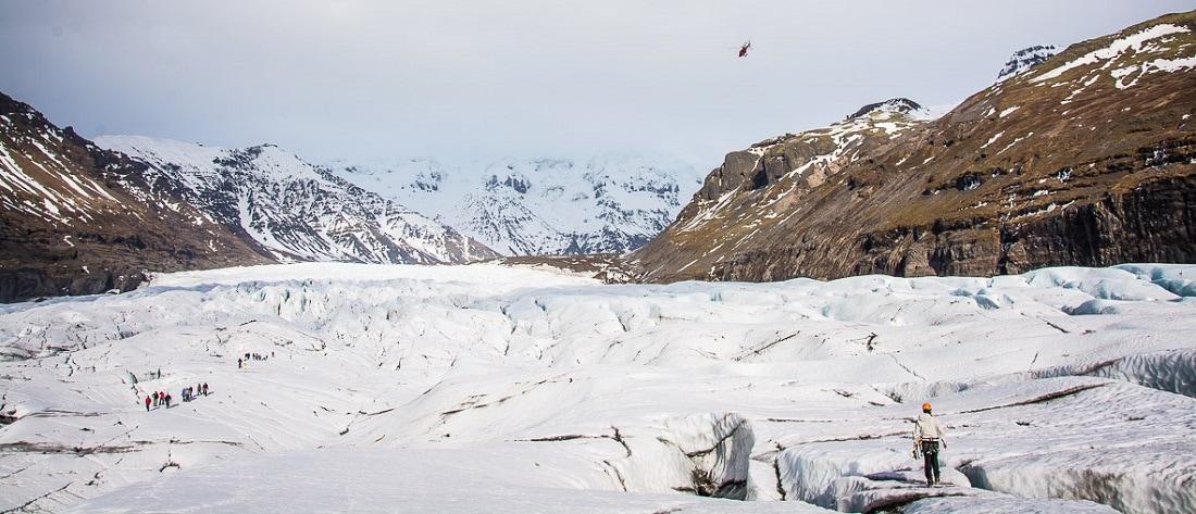 heli glacier hike