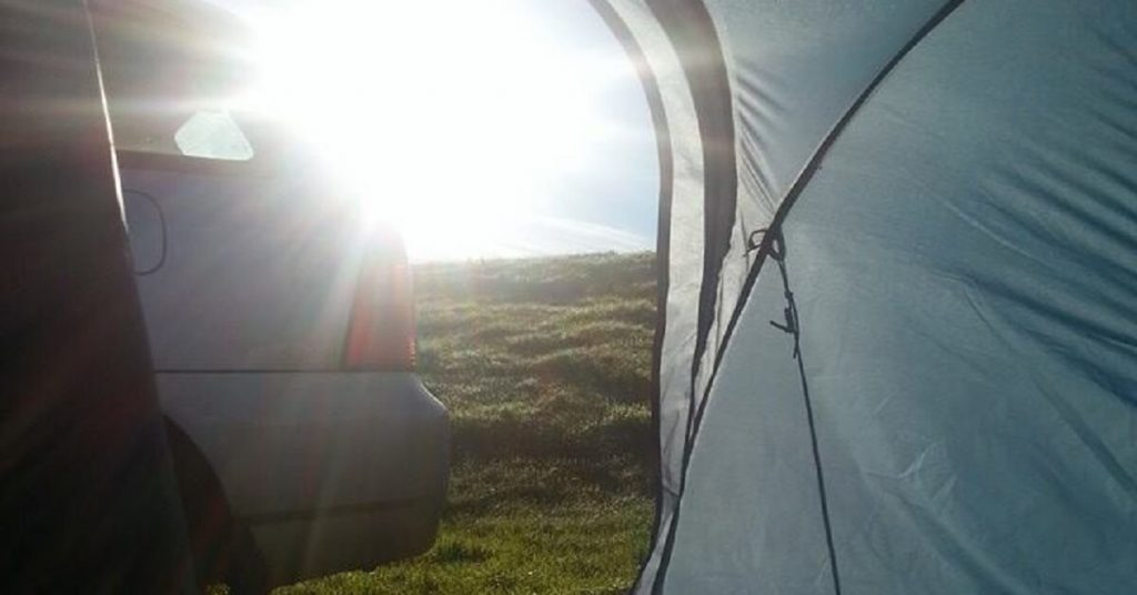 camp in iceland