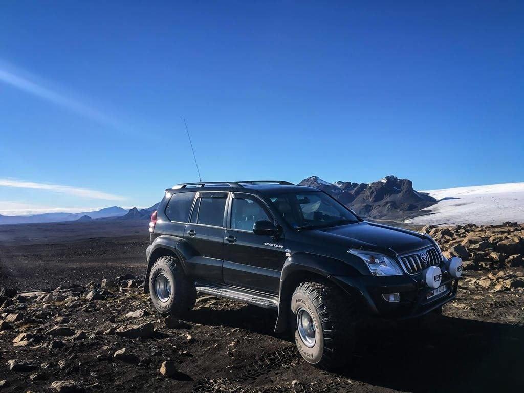 A black Toyota Land Cruiser