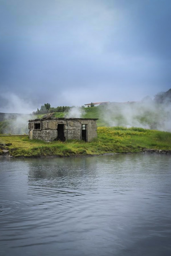 Secret natural bath in Iceland