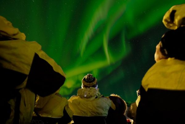 Watching the Aurora on the Northern Lights Boat Tour