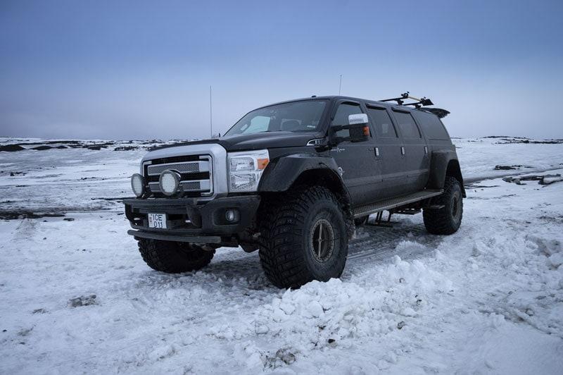 Super Jeep on the glacier