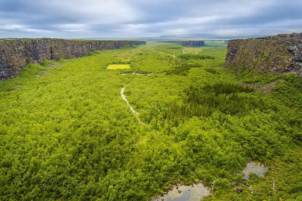 Ásbyrgi is a spectacular horseshoe-shaped canyon in the northeast of Iceland