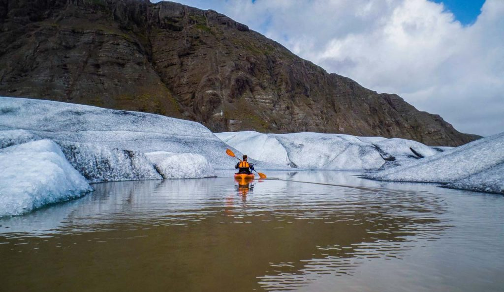 Glacier kayaking is the ultimate way to experience the magnificence of the Vatnajökull National Park