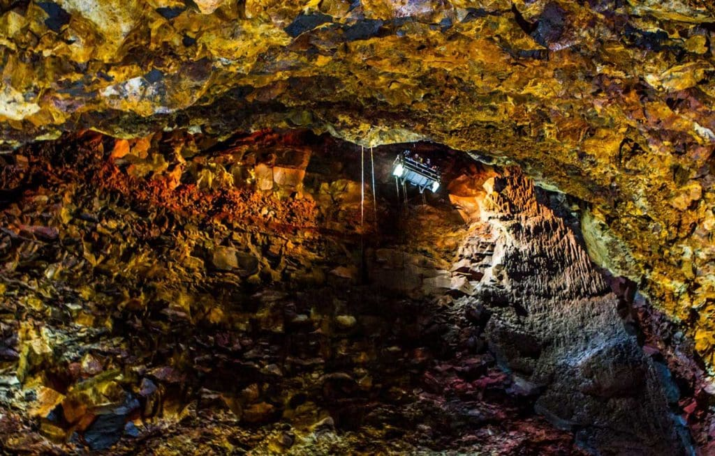 Descending into a magma chamber of a dormant volcano - this is one of the best things to do in Iceland