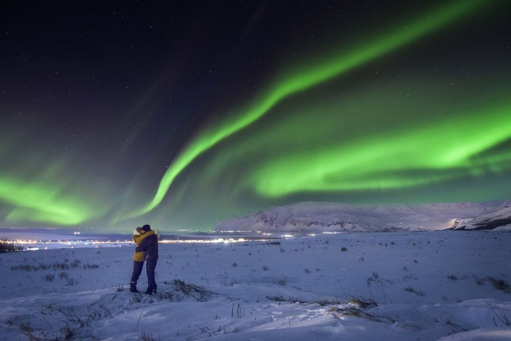 Watching the Northern Lights in Iceland