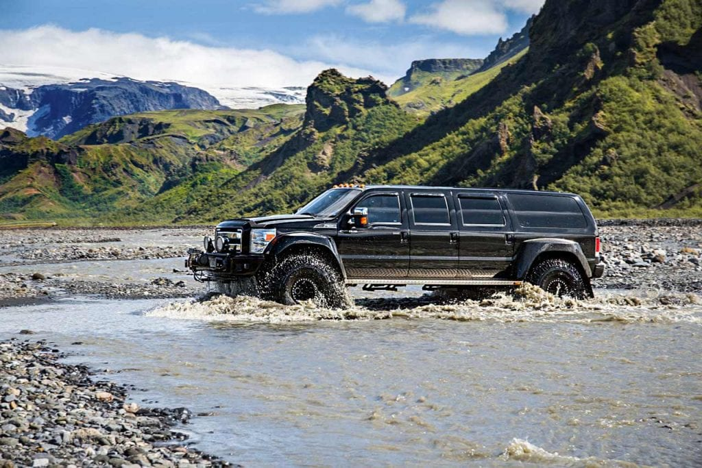 Super jeeps can take you to some of the most remote places in Iceland