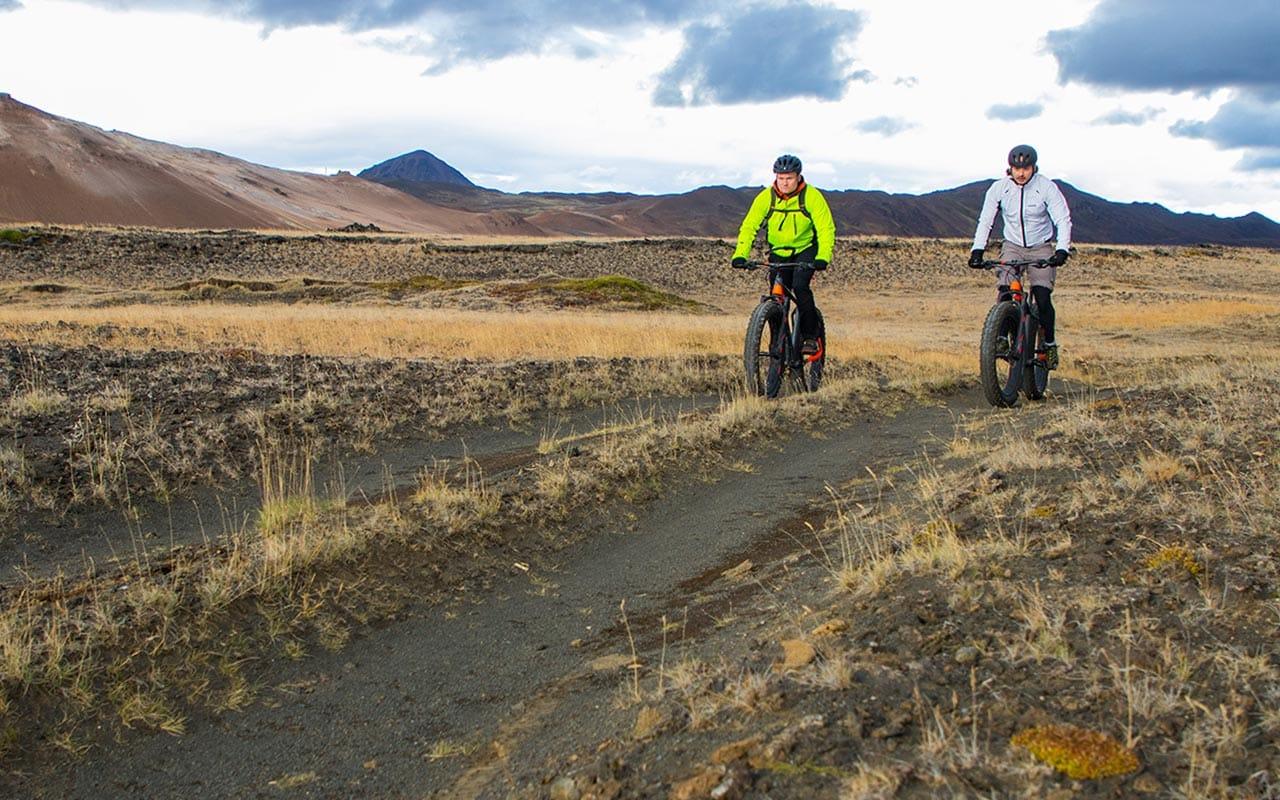 Fat biking in Iceland