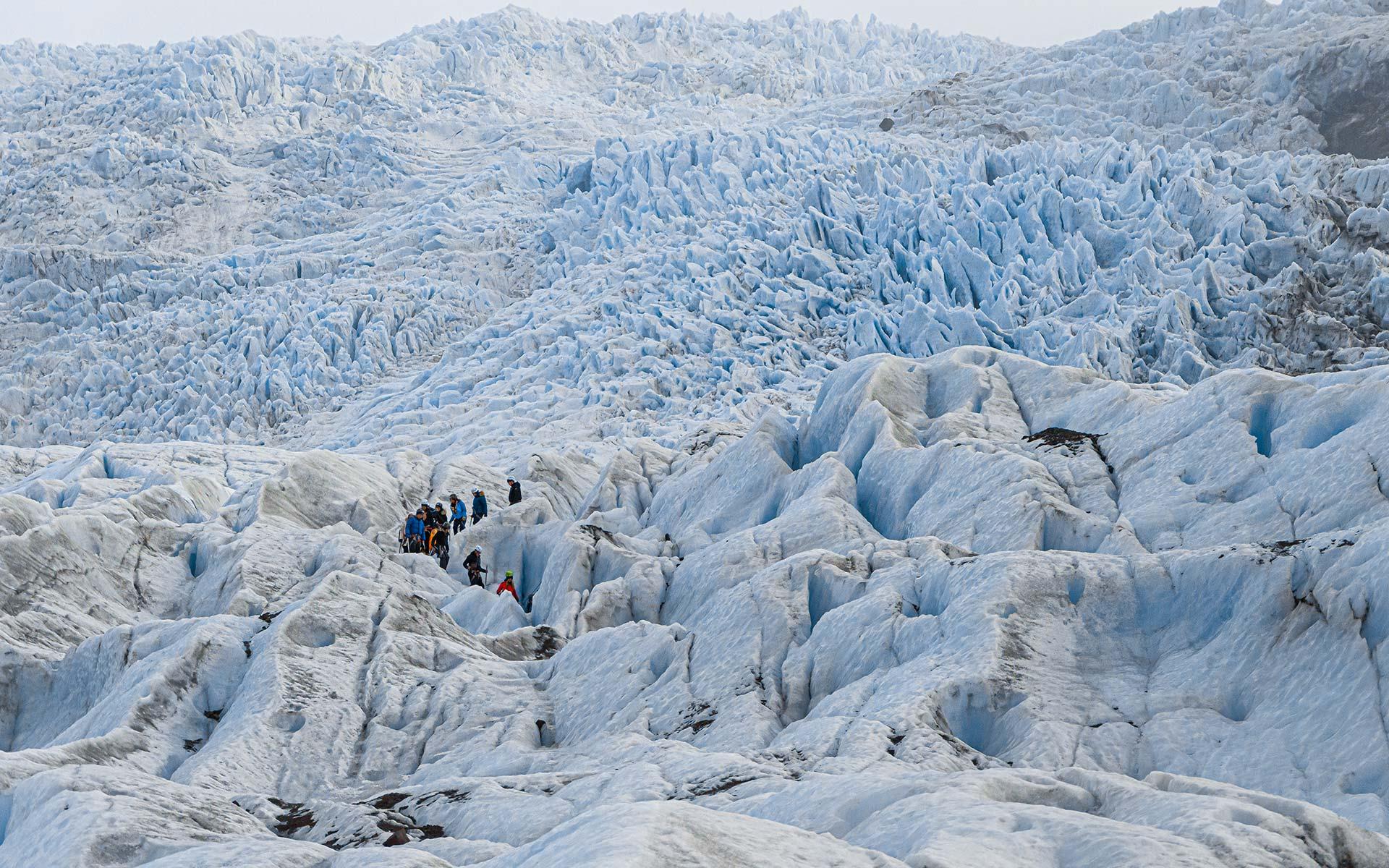 Easy Glacier walk on Falljokull glacier in Iceland