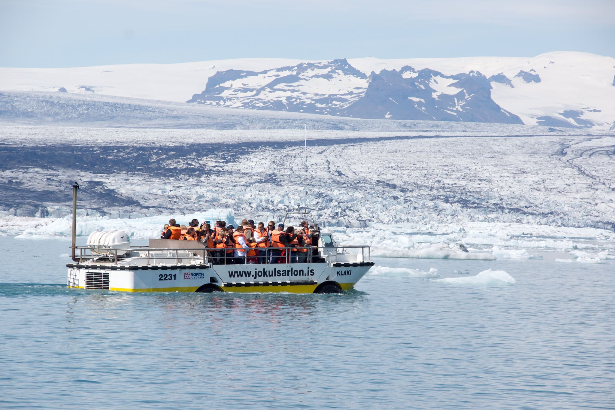 Amphibian Boat Tour on Jokulsarlon