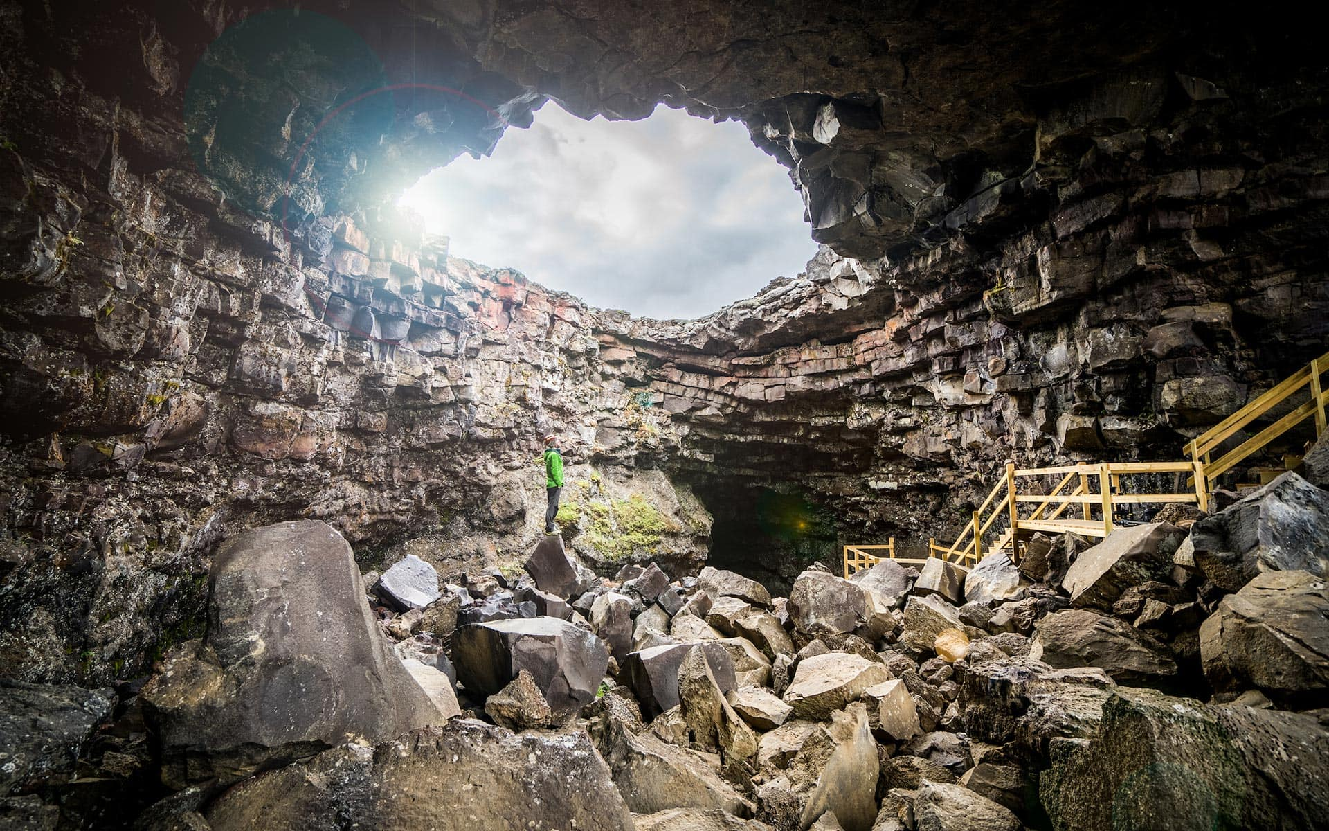 Lava cave tours in Iceland