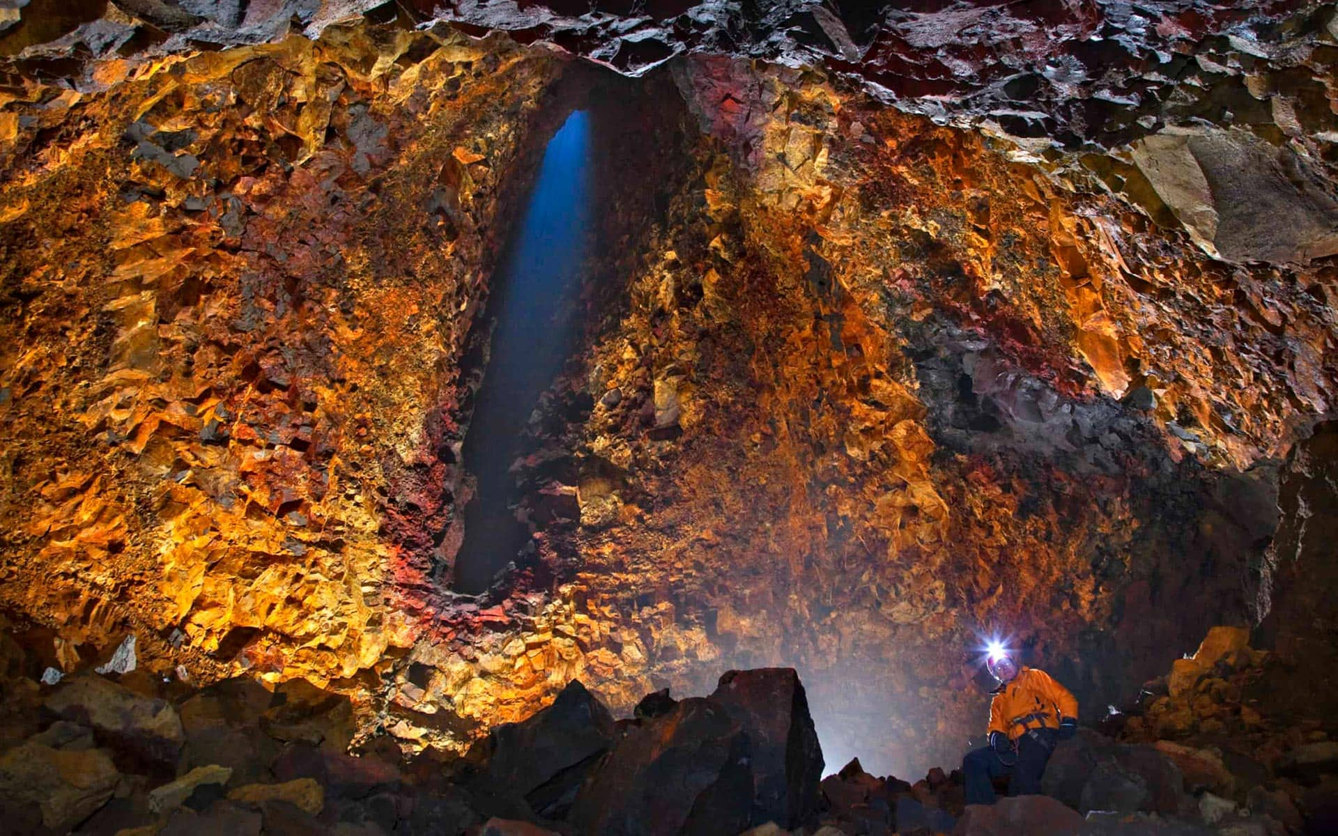 Inside the volcano tour in Iceland