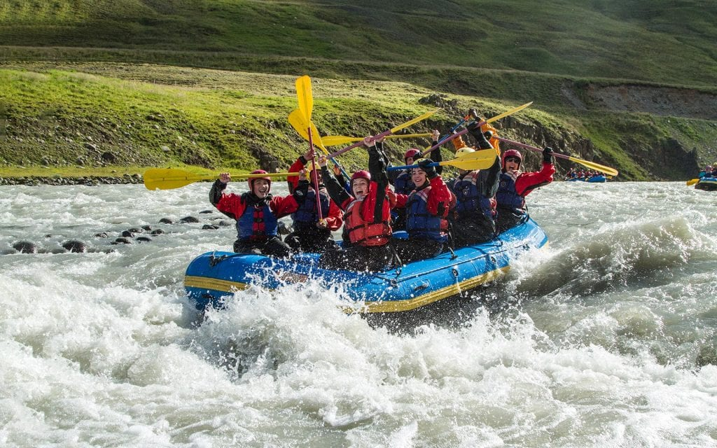 Family rafting tour in North Iceland