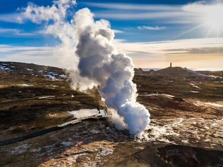 Iceland Glymur waterfall