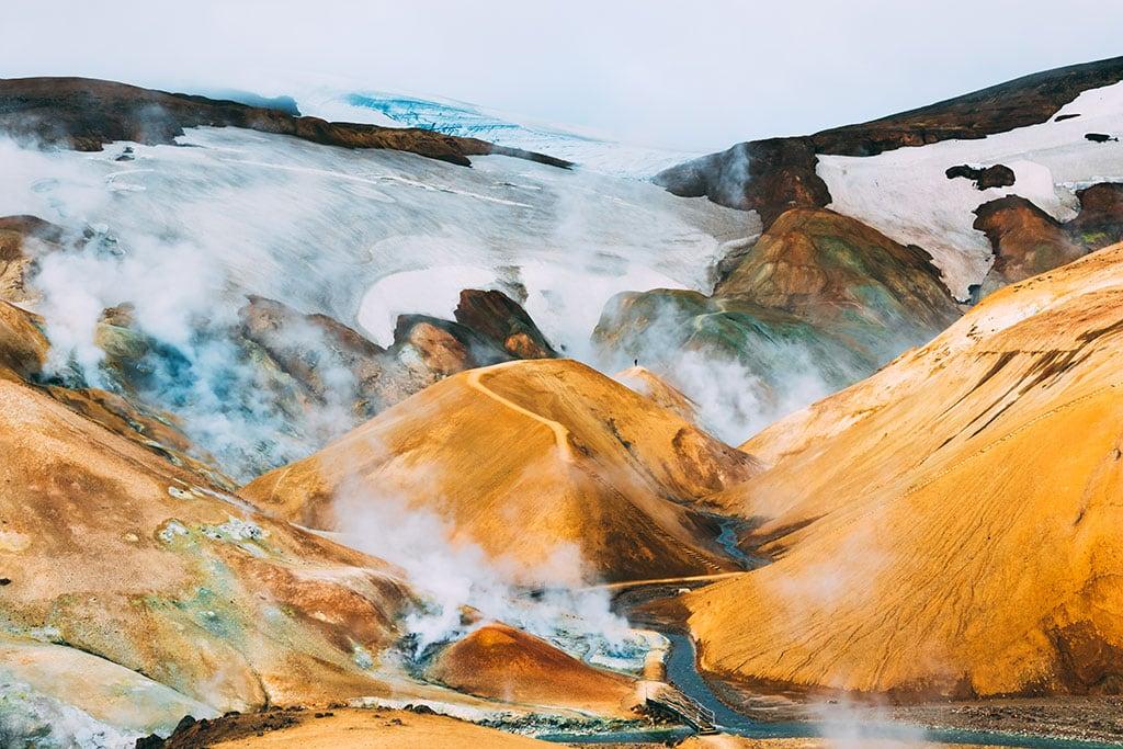 Hveradalir geothermal area in Iceland