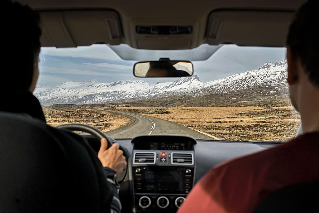 Road tripping in Iceland
