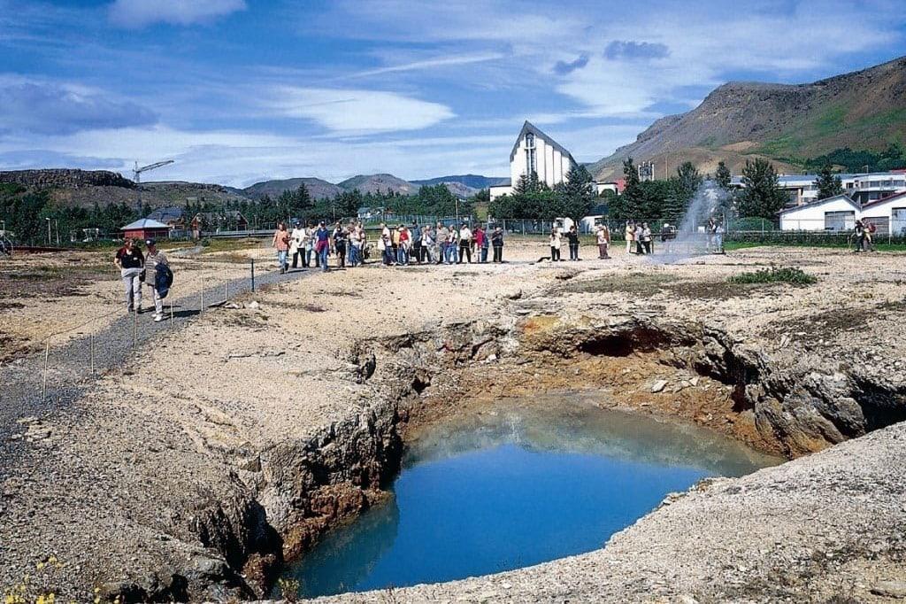 The geothermal park in Hveragerði