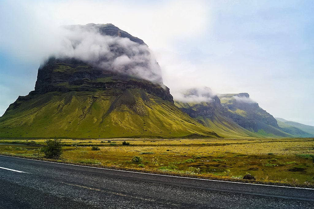 Lómagnúpur is one of Iceland's most photographed mountains and an iconic landmark in the Icelandic countryside