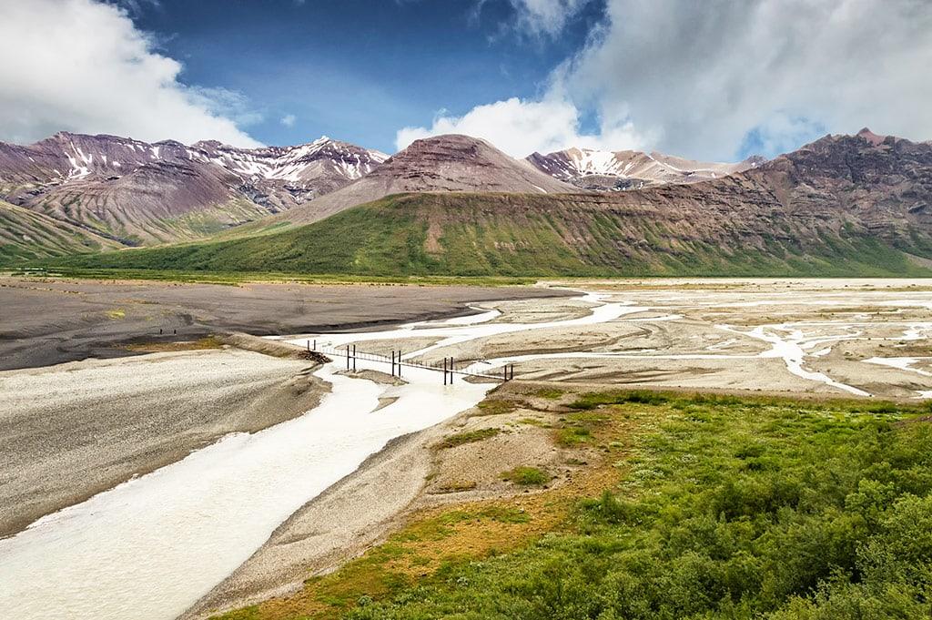 The Skaftafell region of Vatnajokull National Park