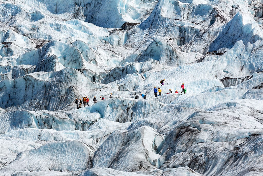 Svínafellsjökull is an outlet glacier of Vatnajökull, and one of Iceland's most popular places for glacier hiking