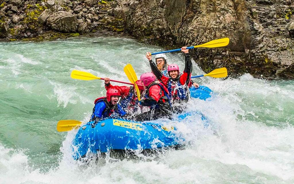 Whitewater rafting in Hvíta river on Golden Cirlce