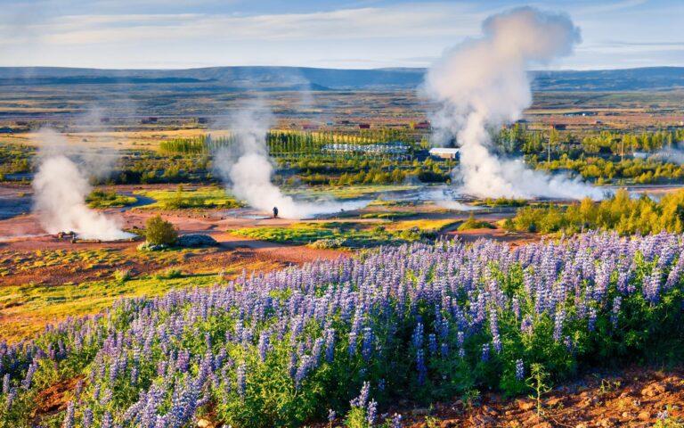 Geysir Geothermal Area in Iceland, Golden Circle