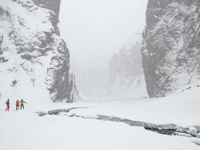 Iceland-Private-Thorsmork-Tour-Stakkholtsgja-winter-walk