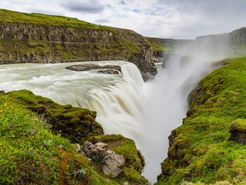 Iceland-private-golden-circle-tour-Gullfoss-SS1-summer