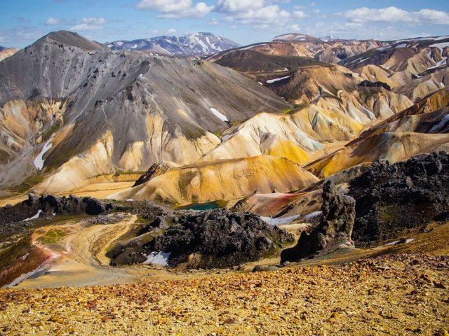 Colorful mountains in Landmannalaugar