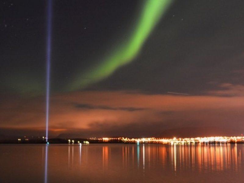 Northern lights over Reykjavík