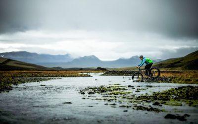 River crossing - Thrihyrningur Fat Bike Tour