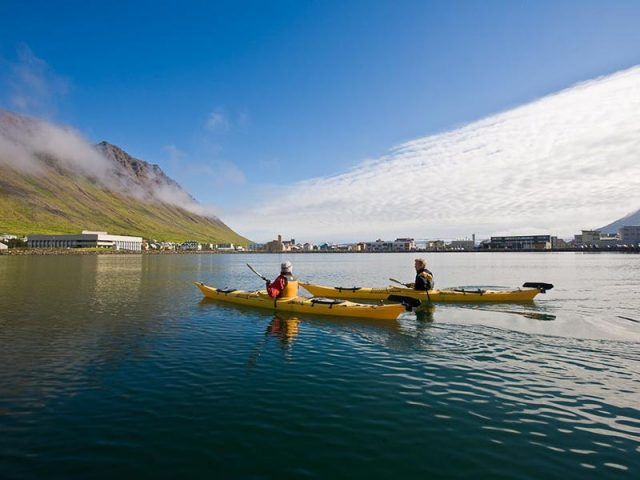 Calm water kayaking from Ísafjordur