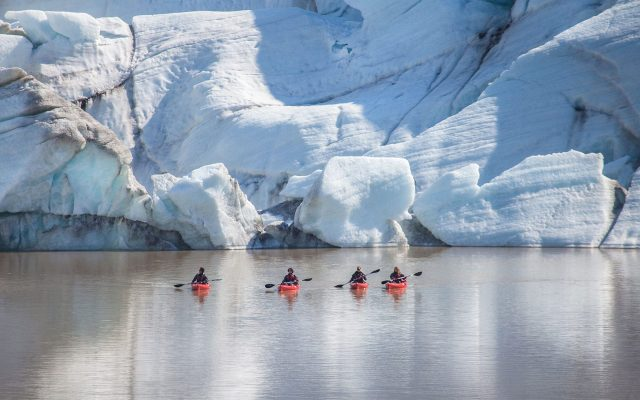 Iceland glacier kayaking