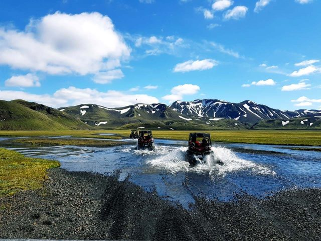 River crossing on the Landmannalaugar Buggy Tour