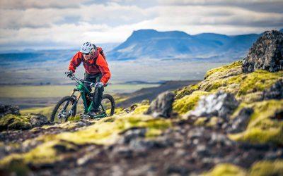 Biking on Lava trails
