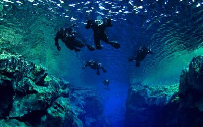 Snorkeling between two continental plates in Silfra