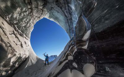 Exploring Katla ice cave
