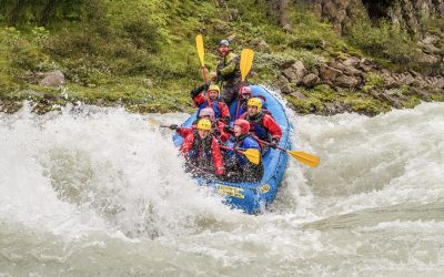 Whitewater river rafting tour in North Iceland