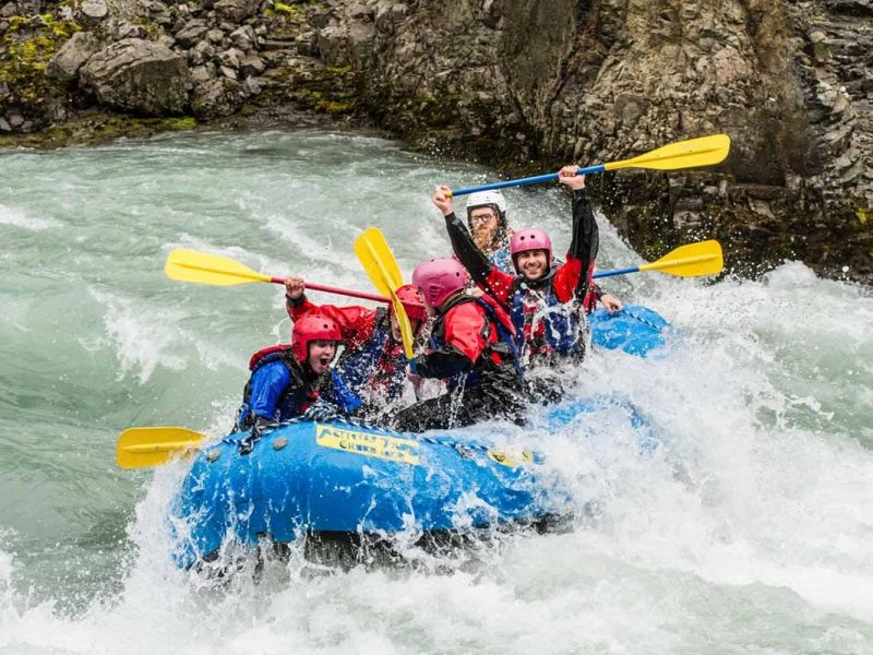Whitewater rafting tour in Iceland